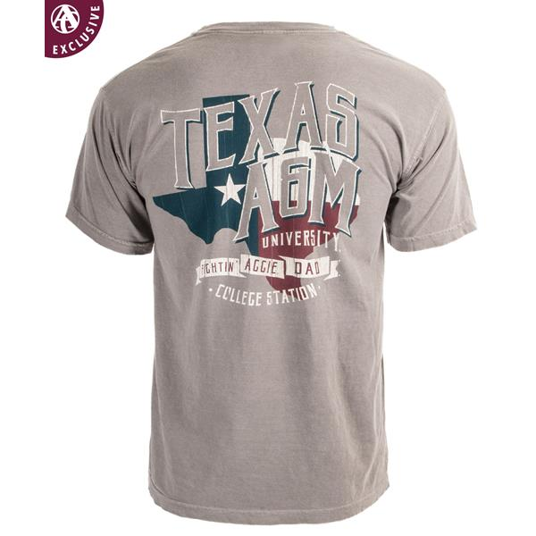 2a79b29b Texas A&M Fightin' Aggie Dad T-Shirt Grey   Aggieland Outfitters