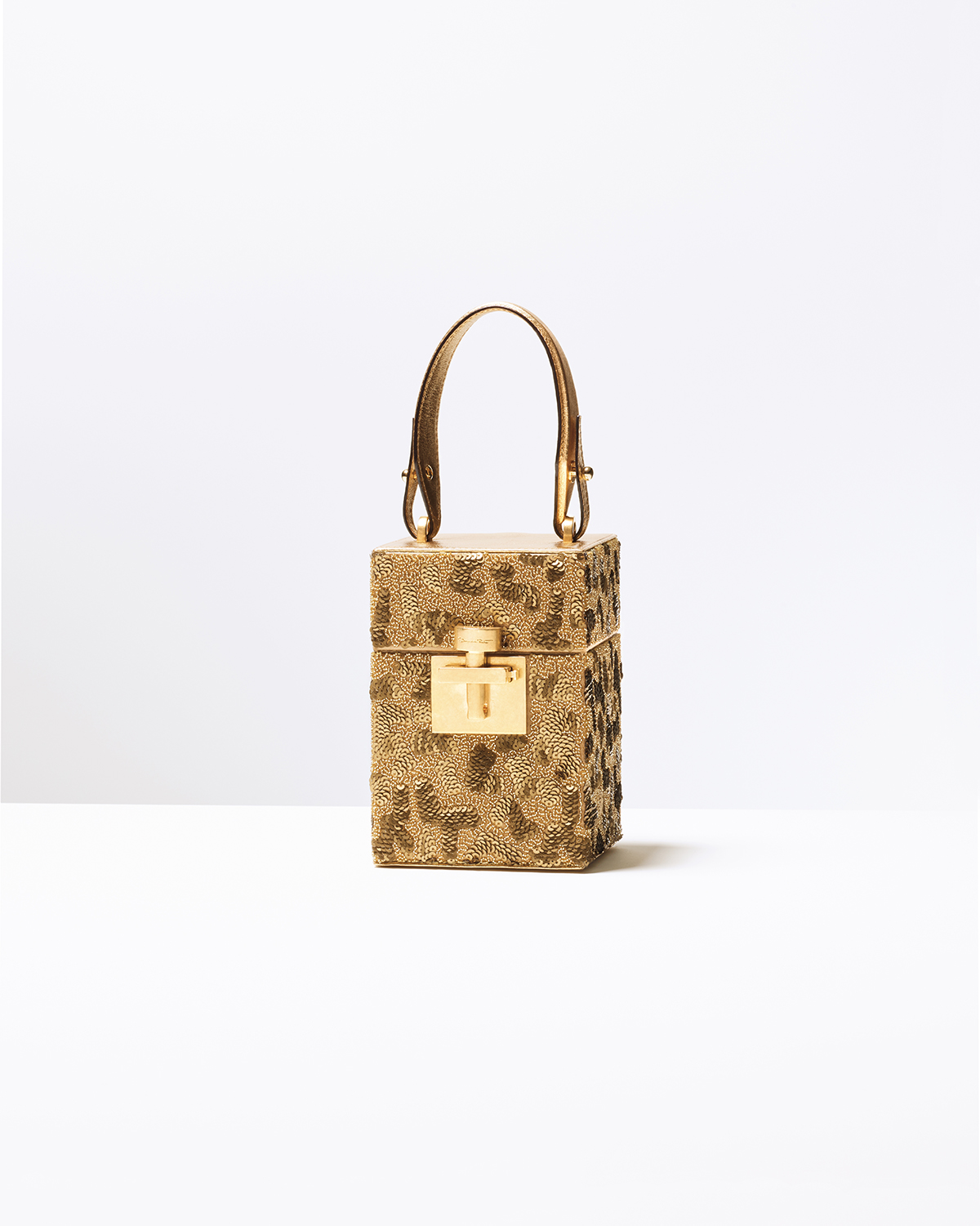 GOLD SEQUIN MINI ALIBI BAG