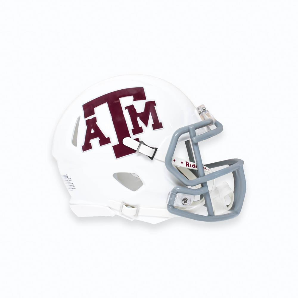 Riddell Aggie Speed Mini Football Helmet White Aggieland Outfitters