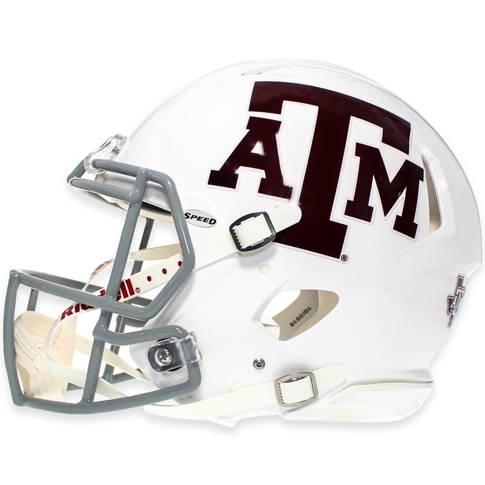 Texas A M Riddell Speed Authentic Football Helmet White Aggieland Outfitters