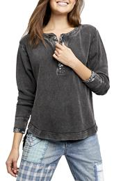 Free People Fall For You Henley Top in Gray