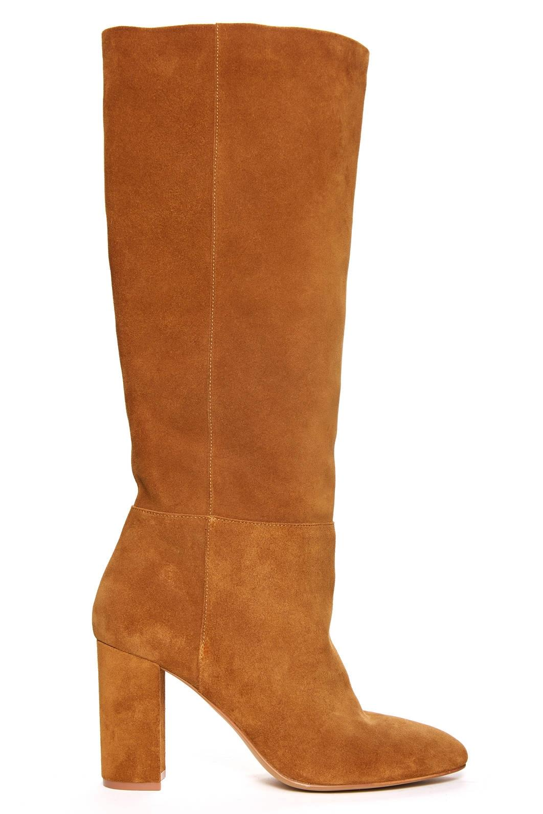 SUEDE TALL BOOT HONEY BROWN BROWN