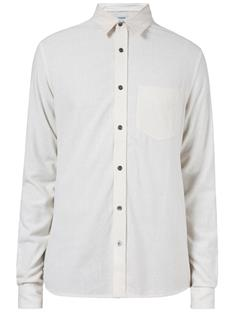 Mens Daniel CL S Raw Silk Shirt Off White