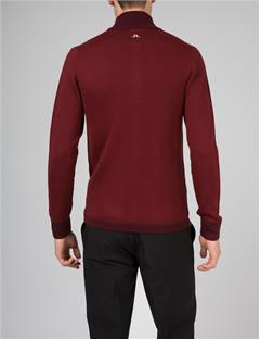 Mens Laurent Zip Sweater Plum
