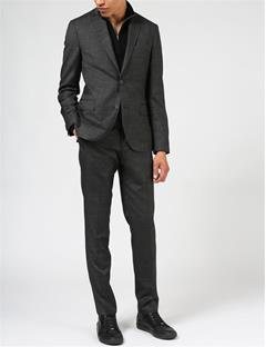 Paulie 140s Platinum Suit Pants Almost Black