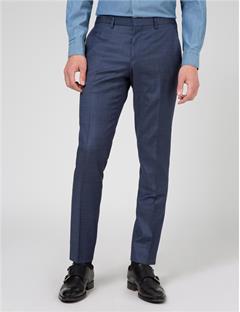 Mens Paulie 140s Platinum Suit Pants Dk Blue