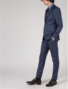 Paulie 140s Platinum Suit Pants Dk Blue