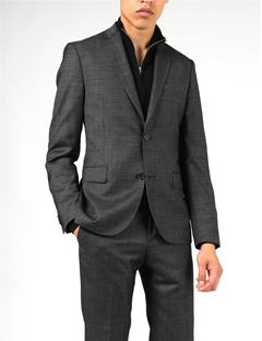 Mens Hopper Soft 140s Platinum Suit Jacket Almost Black