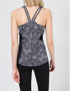 Womens Maja Printed Tech Polyamide Tank Top Printed Black