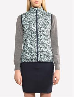 Womens Gale Windproof Vest Mosaic Mint
