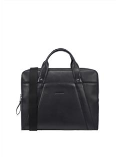 Mens Mix Leather Bag Black