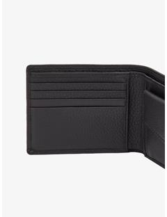Mens Mix Leather Wallet Black