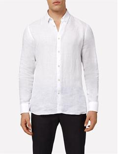 Mens Daniel Linen Melange Shirt Off White