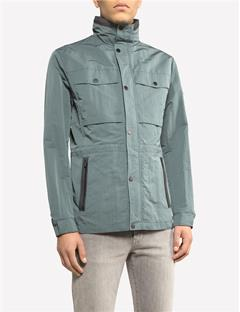 Mens Kane Washed Memo Jacket Dk Green/Silver