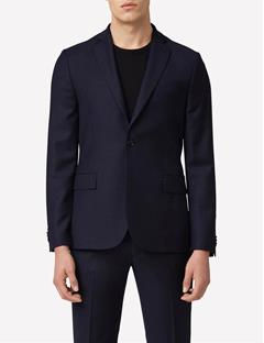 Mens Hopper Soft Wool Stretch Blazer Mid Blue