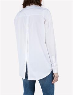 Womens Nicco Comfy Poplin Shirt White