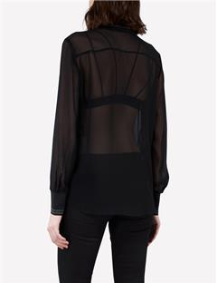 Nikey Chiffon Top Black