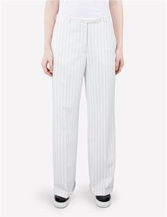 Womens Kori Fab Pinstripe Pants Off White