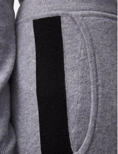 Mikeyla Cashmere Mix Sweatpants Lt Grey Mel