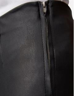 Daphne Stretch Leather Pants Black