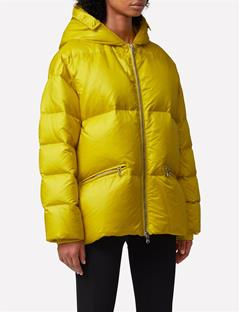 Womens Sloane Shiny Down Jacket Lemon
