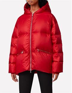 Sloane Shiny Down Jacket Red Deep