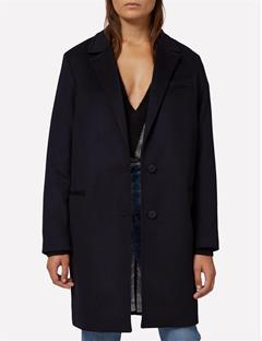 Womens Laya Cashmere Blend Coat Black