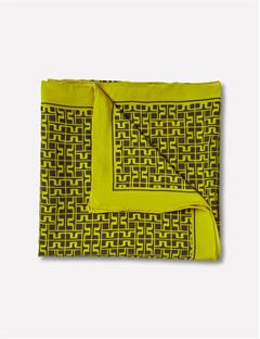 Womens Square Print Scarf Lemon