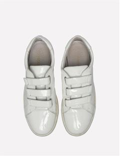 Velcro Patent Leather Sneaker White