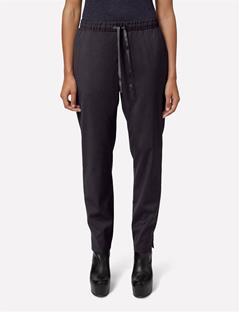 Spring Lux Weave Pants Black Mouline