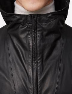 Mens Broken Light Leather Jacket Black