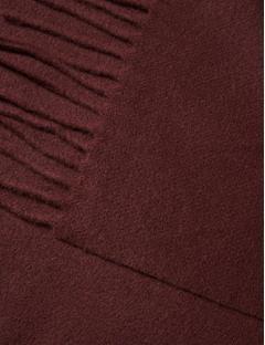 Champ Solid Wool Scarf Dusty Burgundy