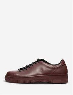 Mens Leather Sneakers Dk Plum