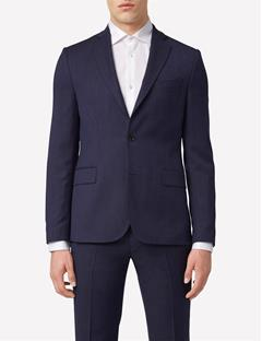 Mens Hopper Soft Fancy Wool Blazer Dusty Blue