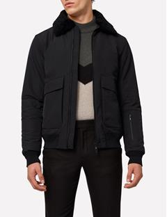 Mens Mauer Mechanical Stretch Flight Jacket Black