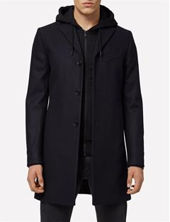 Mens Wolger Compact Melton Coat JL Navy