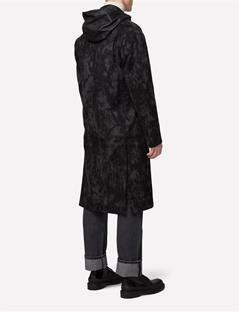 Mens Crombie Shadow Melton Coat Black
