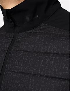 Mixed Hybrid Jacket Black Wave Print
