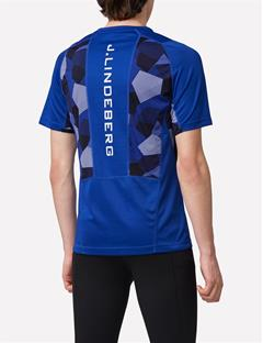 Mens Elements Jersey Active T-shirt Strong Blue