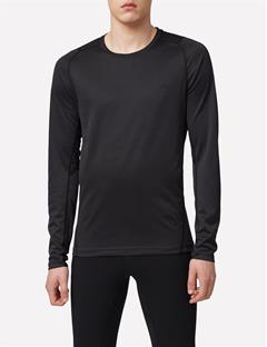 Elements Jersey Active Long-Sleeve T-shirt Black Melange