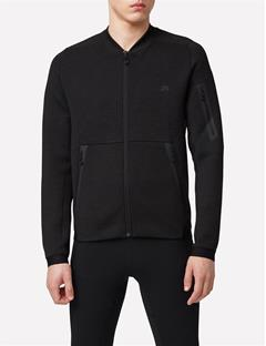 Athletic Tech Sweat Jacket Dk Grey Melange