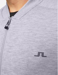 Athletic Tech Sweat Jacket Stone Grey Melange