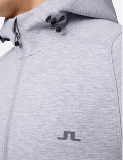 Athletic Tech Sweat Hoodie Stone Grey Melange