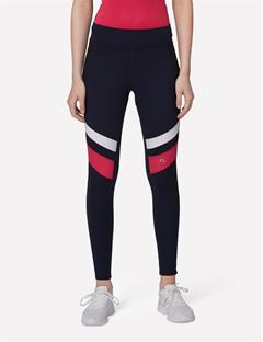 Womens Compression Running Tights JL Navy