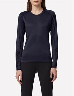 Womens Elements Long Sleeve Jersey Tee Black Melange