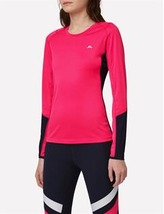 Elements Long Sleeve Jersey Tee Pink Intense