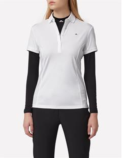 Womens Linda TX Jersey Polo White