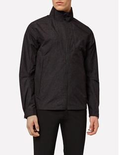 Mens Paclite Jacket Black Wave Print