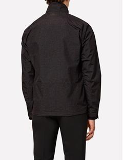 Paclite Jacket Black Wave Print