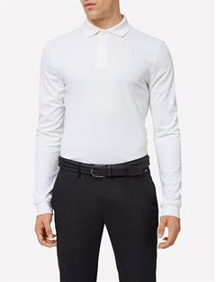 Brandon Long Sleeve Slim TX Torque Polo White